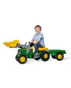 Rolly 02/311/0 Kid John Deere Tractor with Frontloader & Trailer