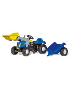 Rolly 02/392/9 Kid New Holland Tractor with Frontloader & Trailer