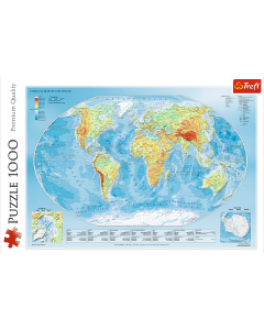 Trefl 10463 Physical Map of the World 1000 Piece
