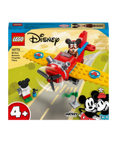 LEGO 10772 Disney Mickey Mouse Propeller Plane Set, Airplane Toy for Toddlers 4+ Years Old with Pilot Figure