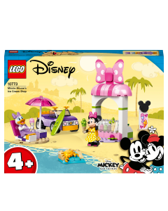 LEGO 10773 Disney Minnie Mouse's Ice Cream Shop, Toy for Kids 4 + Years Old with Car