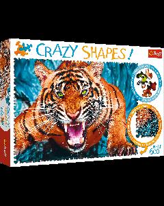 Trefl 11110 Facing a Tiger 1000 piece Crazy Shapes