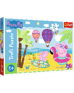 Trefl 14293 Peppa Pig, Peppas Holiday