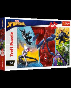 Trefl 16347 Spiderman, Upside Down 100 Piece Puzzle