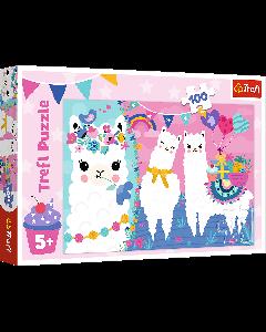 Trefl 16363 Happy Llamas 100 piece puzzle