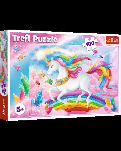 Trefl 16364 Chrystal World of Unicorns, 100 Piece Puzzle