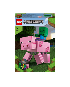 LEGO 21157 Minecraft BigFig Pig with Baby Zombie Figures