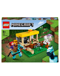 LEGO 21171 Minecraft The Horse Stable Farm Toy with Skeleton Horseman Figure