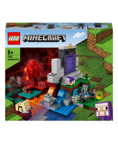 LEGO 21172 Minecraft The Ruined Portal Toy with Steve and Wither Skeleton Figures
