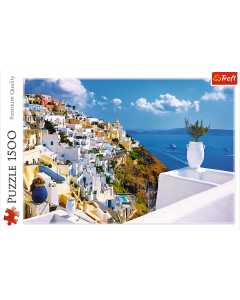Trefil 26119 Santorini Greece, 1500 piece  Poster size: 85x58 cm.
