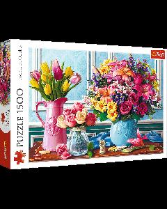 Trefl 26157 Flowers In Vases 1500 Piece