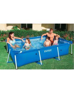 Intex Pool 2.6m x 1.6m Metal Frame Rectangular Pool