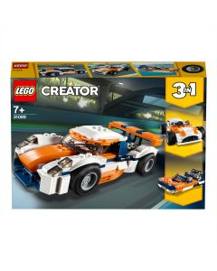 LEGO 31089 Creator Sunset Track Racer, Sports Race Car and Speed Boat 3 in 1 Building Set