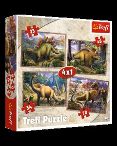 Trefl 34249 Dinosaurs 4 in 1 box