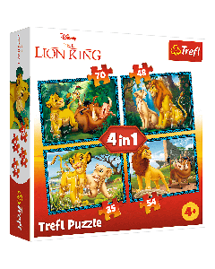 Trefl 34317 Lion King 4 in1 Box Puzzle