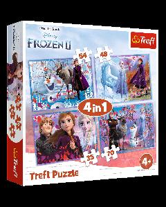 Trefl 34323 Frozen 2, 4 in 1 Box Puzzle