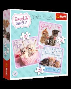 Trefl 34809 Sweet Kittens 3 in 1
