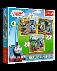 Trefl 34821 Thomas 3 in 1 Box Puzzles