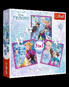 Trefl 34832 Disney Frozen 3 in 1 Box Puzzles
