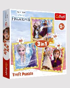 Trefl 34847 Frozen 2,3 in 1 Box Puzzles