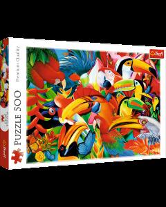 Trefl 37328 Colourful Birds 500 Piece Puzzle