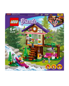 LEGO 41679 Friends Forest House Toy, Treehouse Adventure Set with Mia Mini Doll and Kayak Boat Model