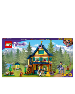 LEGO 41683 Friends Forest Horseback Riding Center Set with Stable, 2 Horses and a Pony, Horse Toy for Girls and Boys Age 7+
