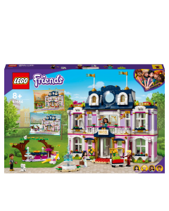 LEGO 41684 Friends Grand Hotel Resort Dolls House Building Set, Heartlake City Toy with Summer and Winter Scenes