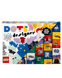 LEGO 41938 DOTS Creative Designer Box, Lots of Extra DOTS, with Pencil Holder, Desk Organiser, Picture Frame & Door Sign for Kids