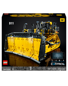 LEGO 42131 Technic App-Controlled Cat D11 Bulldozer Building Set for Adults, Remote Control Construction Motor Vehicle