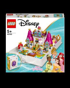 LEGO 43193 Disney Princess Ariel, Belle, Cinderella and Tiana's Storybook
