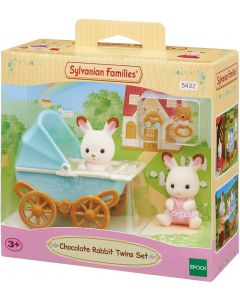 Sylvanian Families 5432 Chocolate Rabbit Twin Set