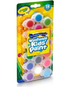 Crayola 54-0125 18 Washable Kids Paints