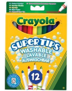 Crayola 03.7509 12 Bright Super Tips Markers