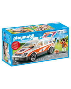 Playmobil 70050 City Life Emergency Car with Siren