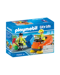 Playmobil 70203 City Life Street Sweeper