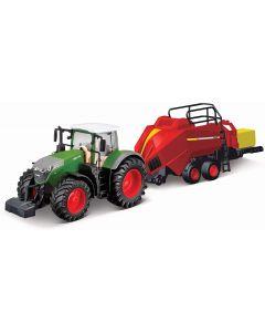 Bburago B18-31663  Fendt Tractor & Bale Lifter