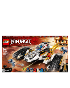 LEGO 71739 NINJAGO Legacy Ultra Sonic Raider 4in1 Vehicle Building Set with Motorbike and Plane Toy for Kids and 7 Minifigures