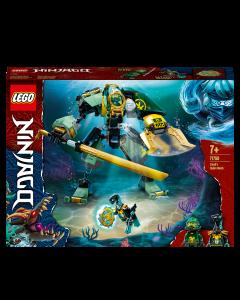 LEGO 71750 NINJAGO Lloyd's Hydro Mech Action Figure Underwater Building Set