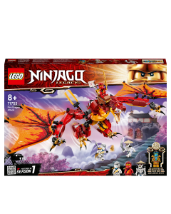 LEGO 71753 NINJAGO Legacy Fire Dragon Attack Toy with Kai, Zane and Nya Minifigures, Ninja Play Set for Kids 8+ Years Old