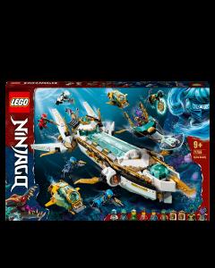 LEGO 71756 NINJAGO Hydro Bounty Building Set, Submarine Toy with Kai and Nya Minifigures, Ninja Toys for Kids 9+ Years Old