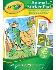 Crayola 04-1408 Animal Activity Sticker Pad, (Various Styles)