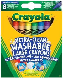 Crayola 52-3282 8 Ultra Clean Washable Large Crayons