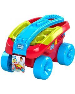 Mattel FVJ47 Mega Bloks Shape Sorting Waggon  Classic coloured pull wagon and shape sorter for learning your shapes