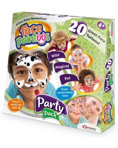 Face paintoos FP101 Large Party Pack With Face Paintoos, it is simple to achieve great results every time. No artistic skills required!