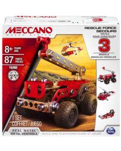 Meccano 6026714 3 Model Set Rescue Force