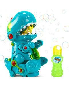 Children Kids, Dinosaur Bubble Machine with Music & Light Walking & Still, Automatic Bubble Maker with Liquid Solution...