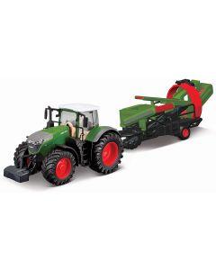 Burago B18-31666 Fendt Tractor & Cultivator