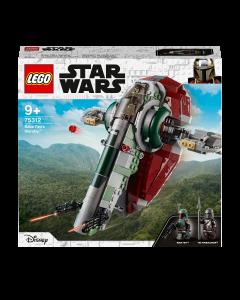 LEGO 75312 Star Wars Boba Fett's Starship Building Toy for Kids Age 9+, Mandalorian Model Set with 2 Minifigures