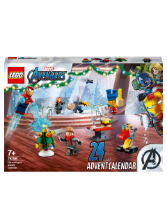 LEGO 76196 Marvel The Avengers Advent Calendar 2021 Buildable Toys with Spider-Man and Iron Man for Kids Aged 7+, Christmas Gift Idea